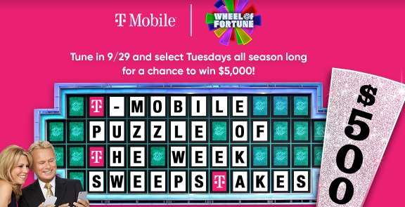 Wheel Of Fortune T-Mobile Puzzle Of The Week Sweepstakes Answer 2021