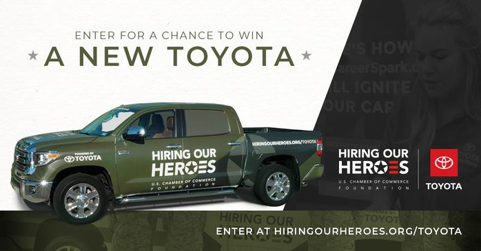 Hiring Our Heroes Toyota Sweepstakes Giveaway 2021